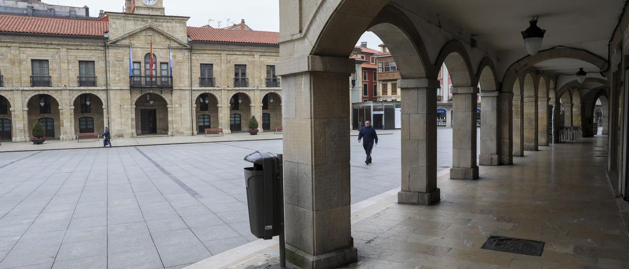 Plaza del Ayuntamiento de Avilés.