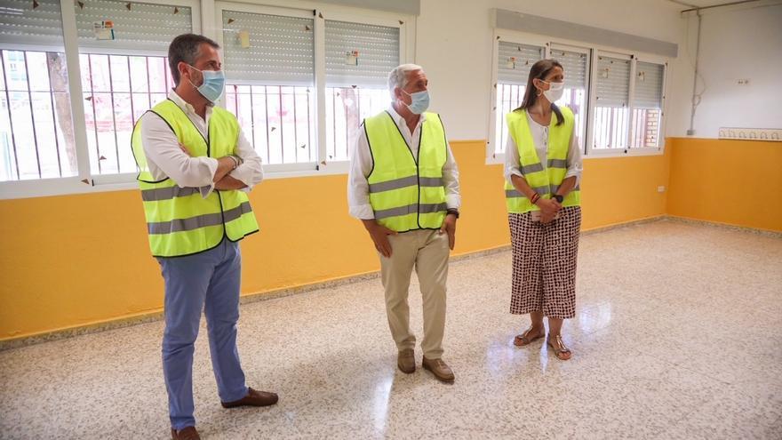 El Ayuntamiento de Málaga realiza actuaciones de mejora en el colegio Valle Inclán por más de 310.000 euros