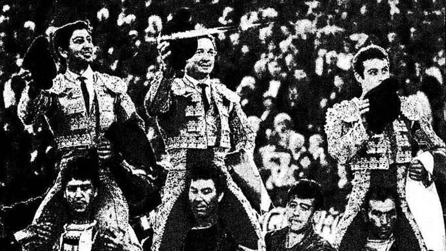 Un cuarto de siglo del gran triunfo de Manzanares, Ponce y Barrera en Fallas