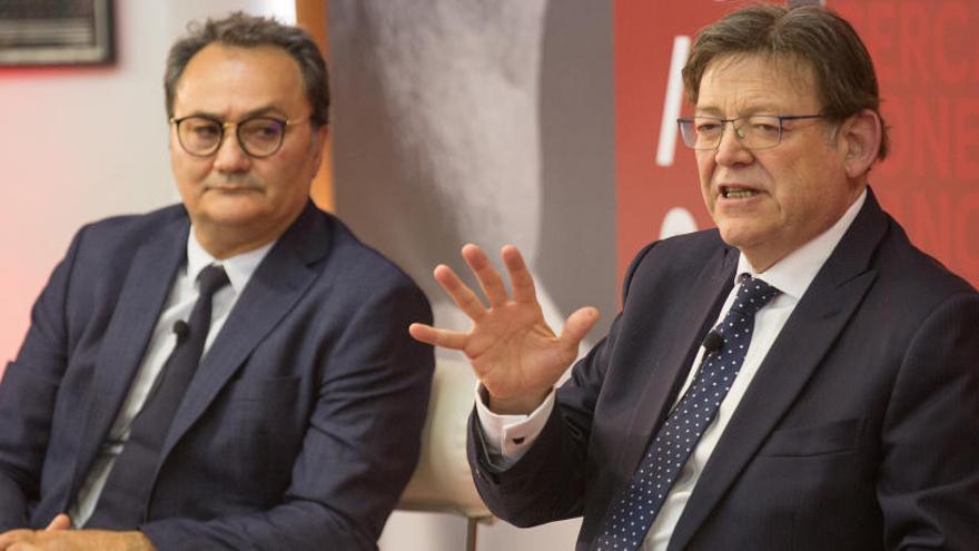 Puig hace campaña en la ciudad de Alicante al margen de la ejecutiva socialista