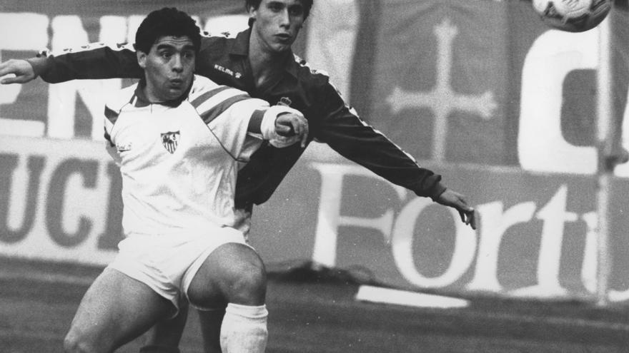 """""""Fueron a ver a Maradona y apareció Luis Manuel"""", la crónica del histórico marcaje a El Pelusa en el Tartiere"""