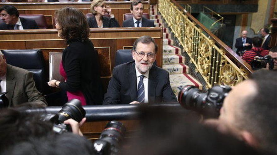 """Rajoy acusa les forces independentistes de deixar """"poc marge"""" al debat"""