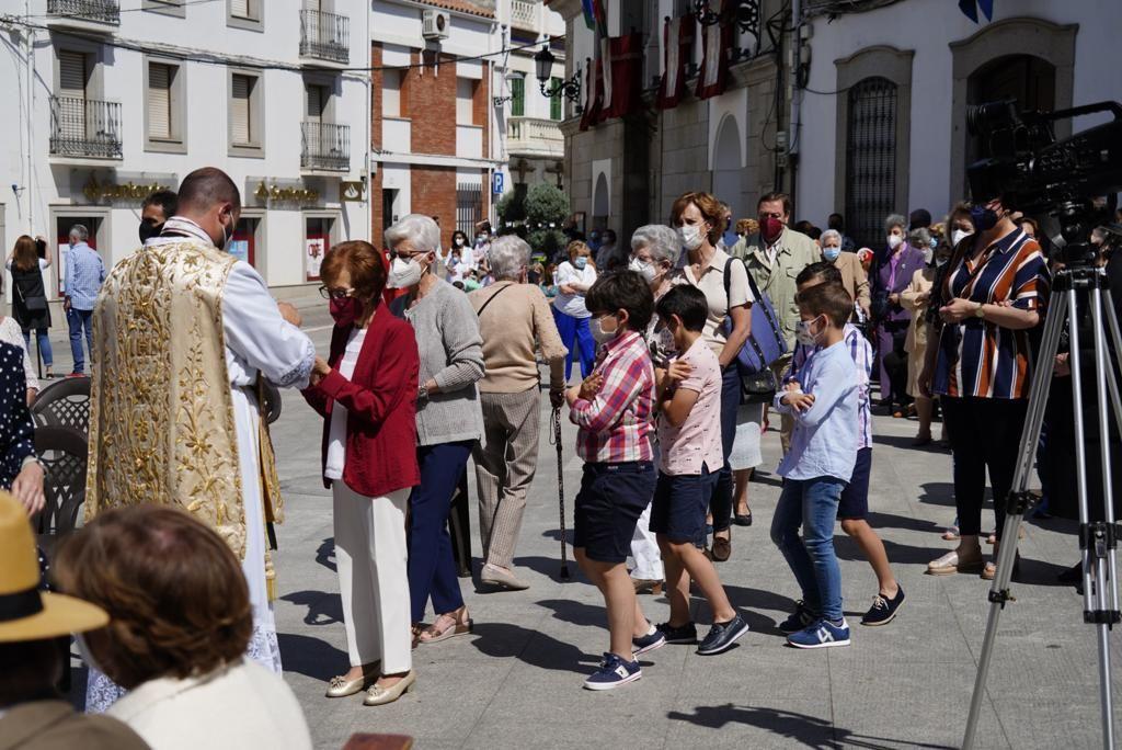 La Virgen de Luna procesiona en Villanueva de Córdoba