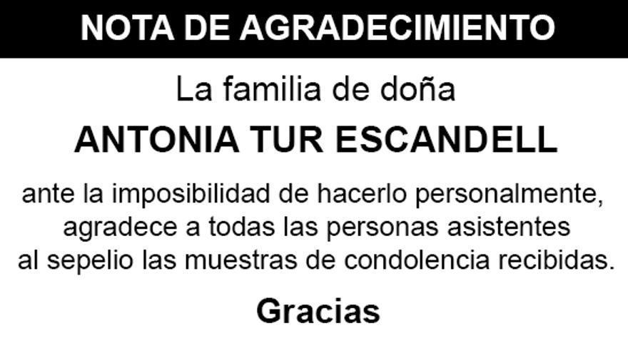 Nota Antonia Tur Escandell