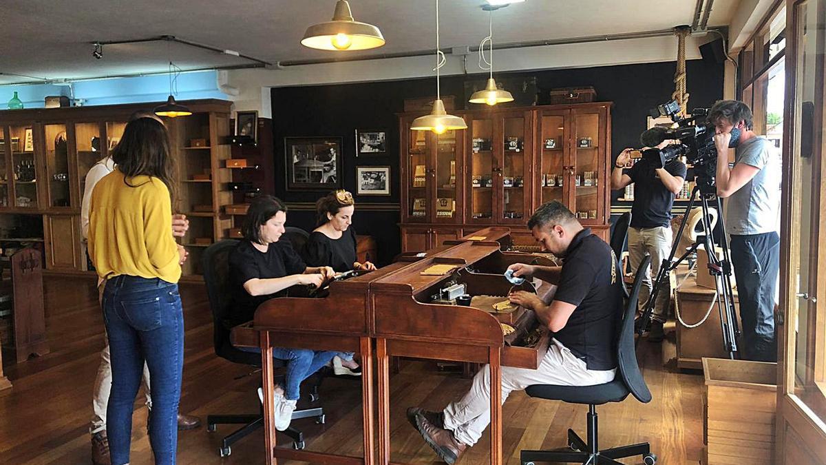 Rodaje de 'Un fin de semana a La Palma' para la televisión francesa TF1.