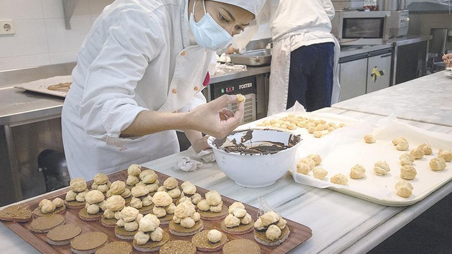 La pastelería de la Escola d'Hotelería de les Illes Balears