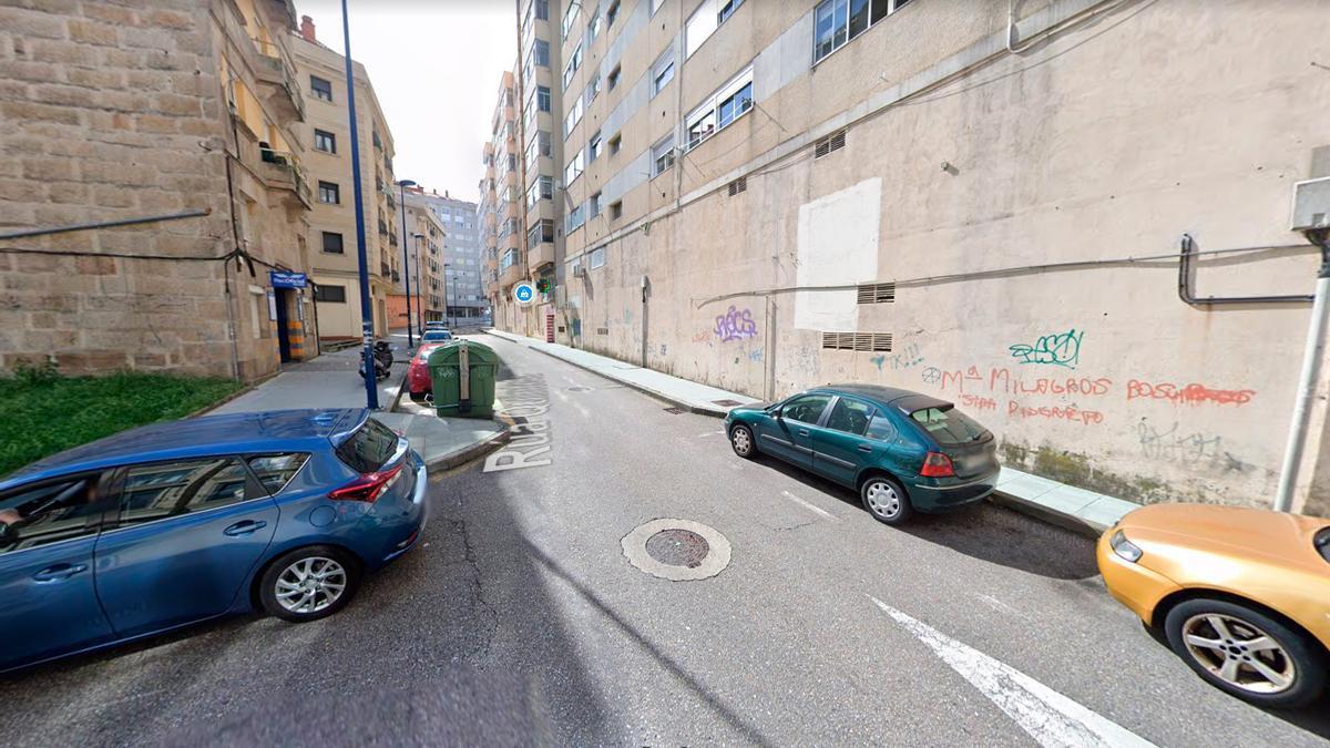 Calle Quintela, en Vigo, lugar de los hechos.