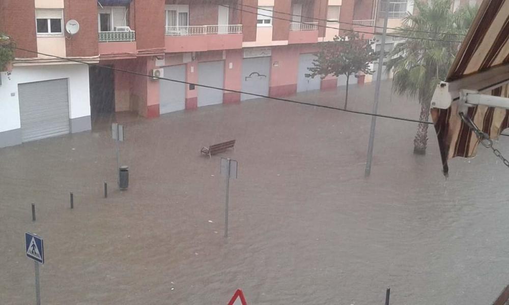 Lluvia en Sax