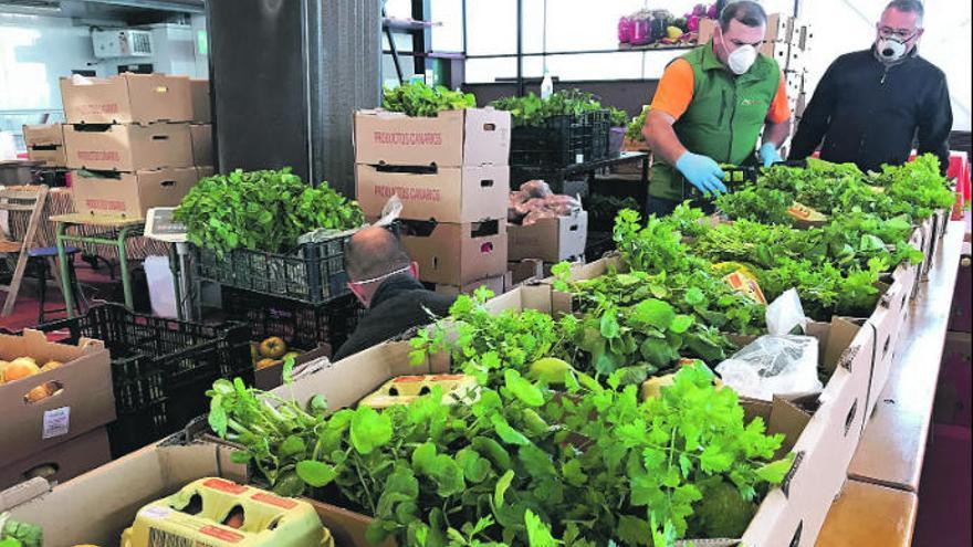 El mercadillo agrícola del Valle vende casi 300 cajas de alimentos a domicilio