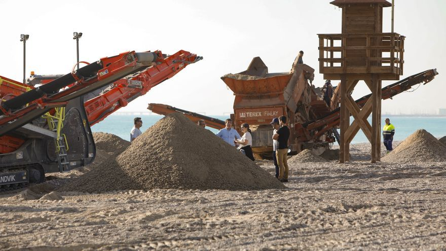 La extracción de piedras para Almenara en la costa de Sagunt acaba en la Fiscalía.