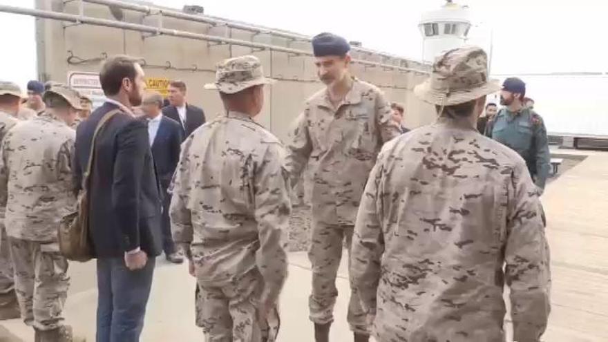 """El Rey expresa su """"orgullo"""" a las tropas españolas en Irak"""