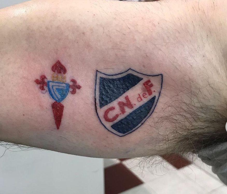 Escudos del Celta de Vigo y el Nacional de Uruguay. // Álex (Walo Walo Tatuajes)