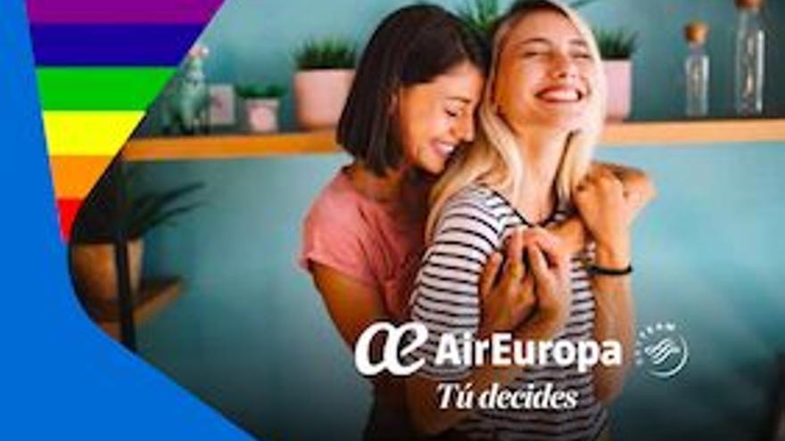 Air Europa, línea aérea oficial del Orgullo LGTBI por tercer año consecutivo