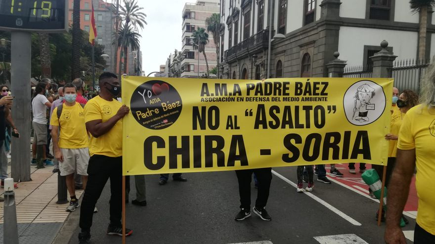 Protesta contra el proyecto de la central hidroeléctrica Salto de Chira