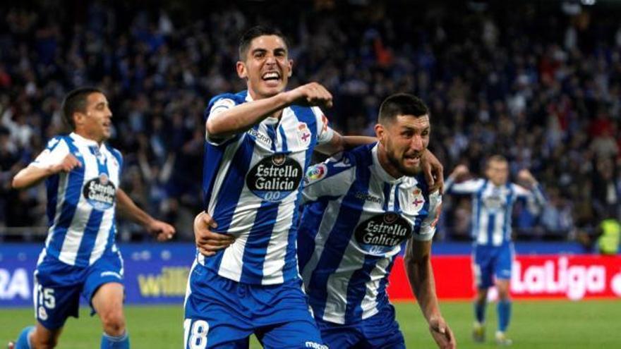 El Deportivo se levanta de la lona y le gana el primer asalto al Málaga
