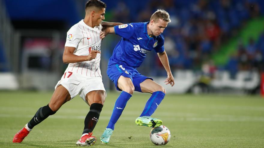 Un gol de Lamela da el triunfo al Sevilla ante el Getafe