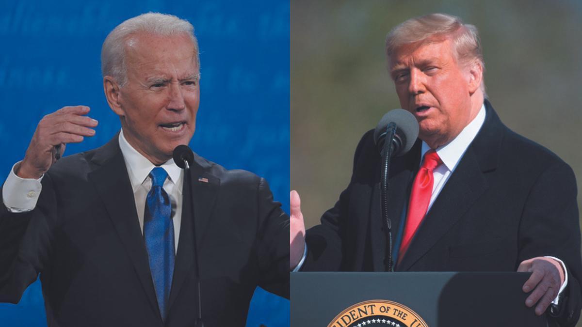 El candidato demócrata Joe Biden y su rival republicano, Donald Trump.
