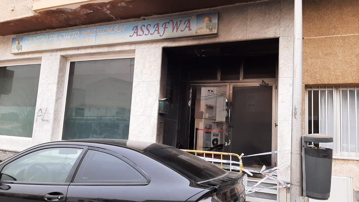 Fachada del lugar atacado en San Javier.