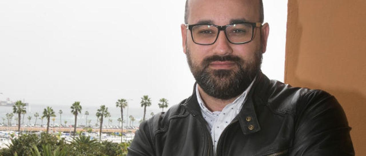 Aridany Romero en su despacho del Ayuntamiento.