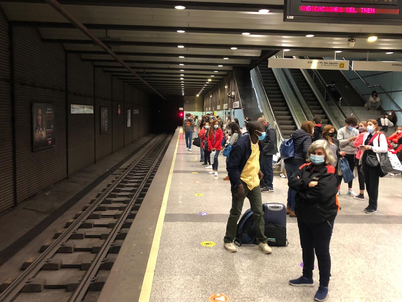 Retrasos en Metrovalencia hoy
