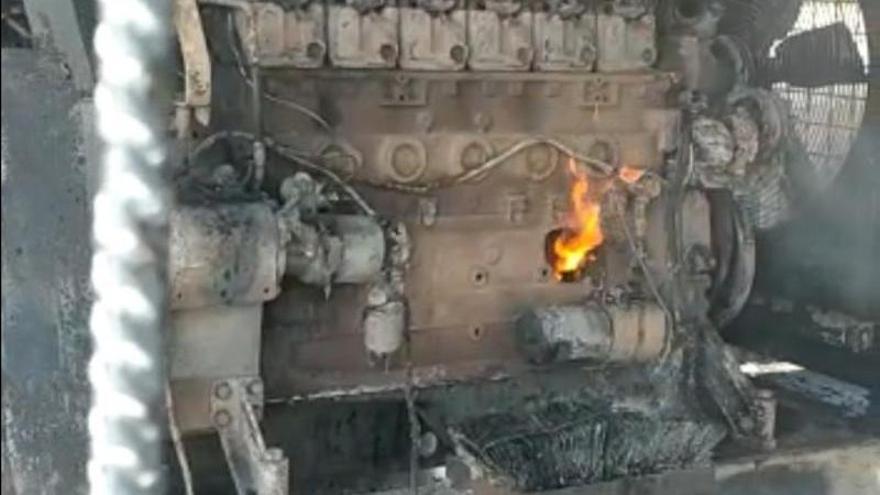 Un incendio arrasa diez hectáreas en la Plataforma Logística de Badajoz