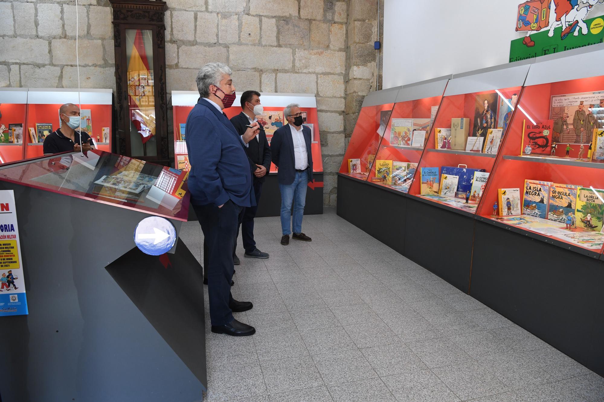 Inauguración de una exposición sobre Tintín en el Museo Militar