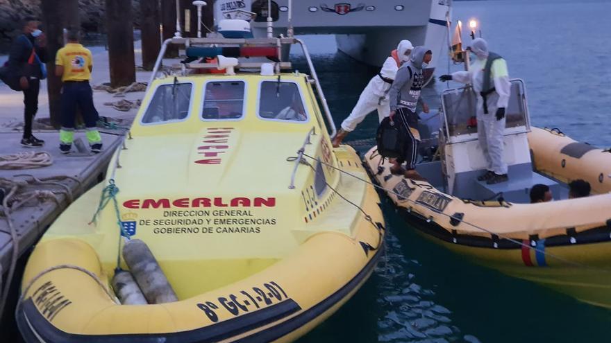 Las llegadas de migrantes ascienden a 291 después de tres nuevos rescates en Gran Canaria