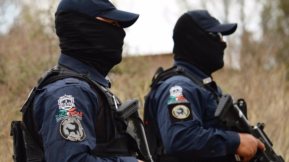 Policías estatales de Zacatecas.