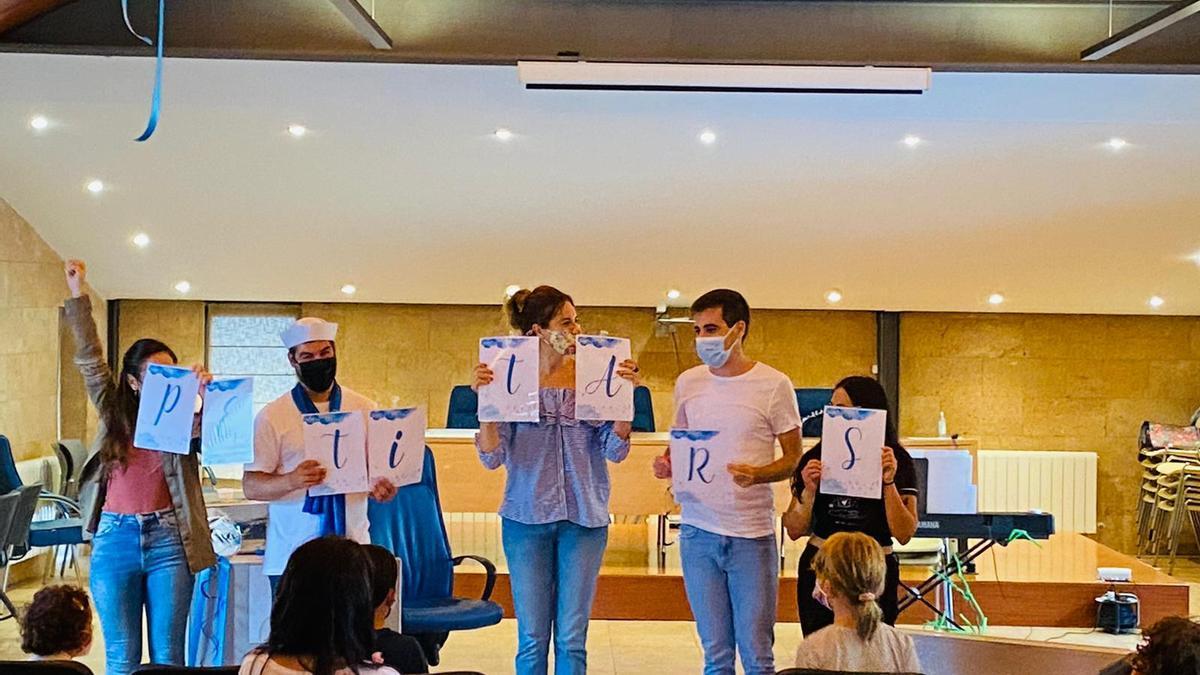 """Los docentes de """"Petit Ars"""" en la primera sesión de este proyecto de aprendizaje musical"""