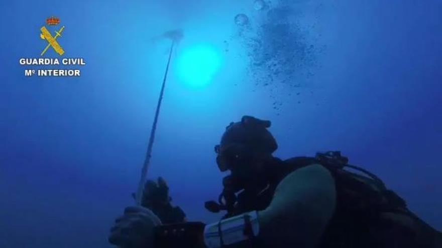 Así fue el rescate del cadáver del submarinista Fernando Garfella