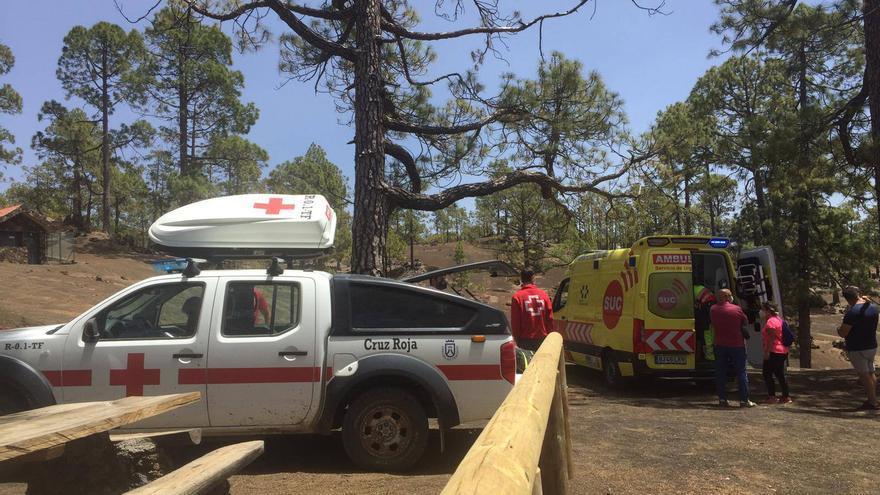 Herido un hombre en una zona recreativa de Chío