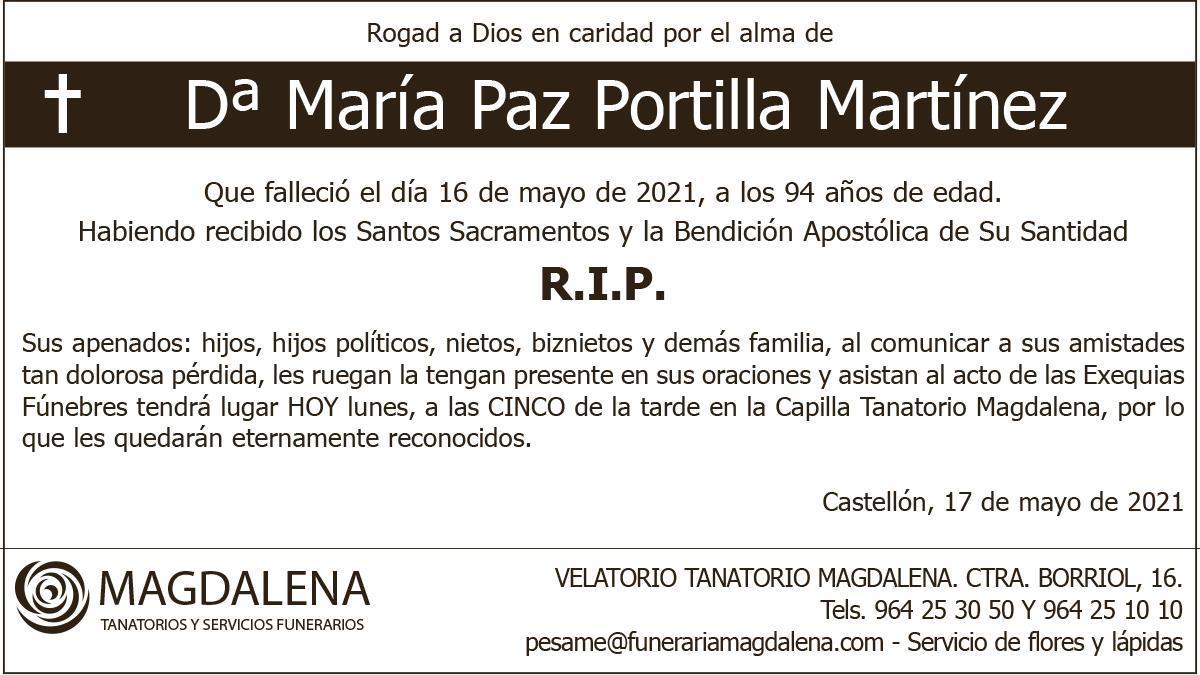 Dª María Paz Portilla Martínez