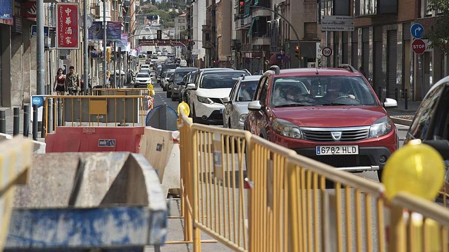 La carretera de Vic es col·lapsa per unes obres a l'entorn de la Bonavista