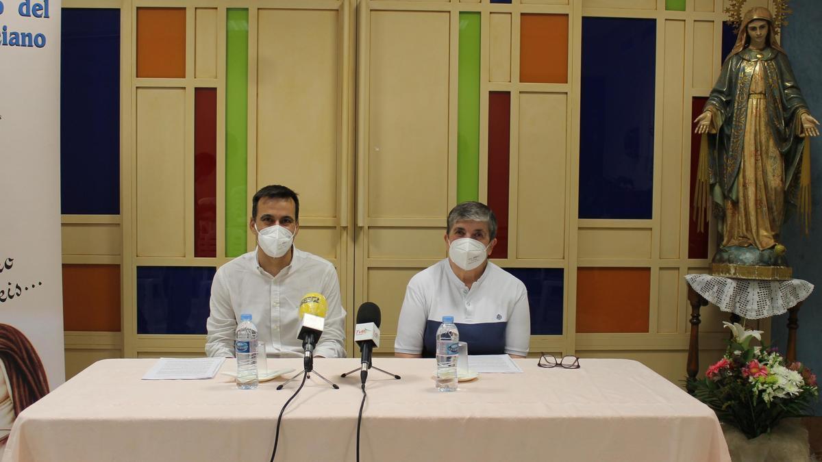 Fernando López y Sor Isabel Jurado, durante la rueda de prensa de este jueves.