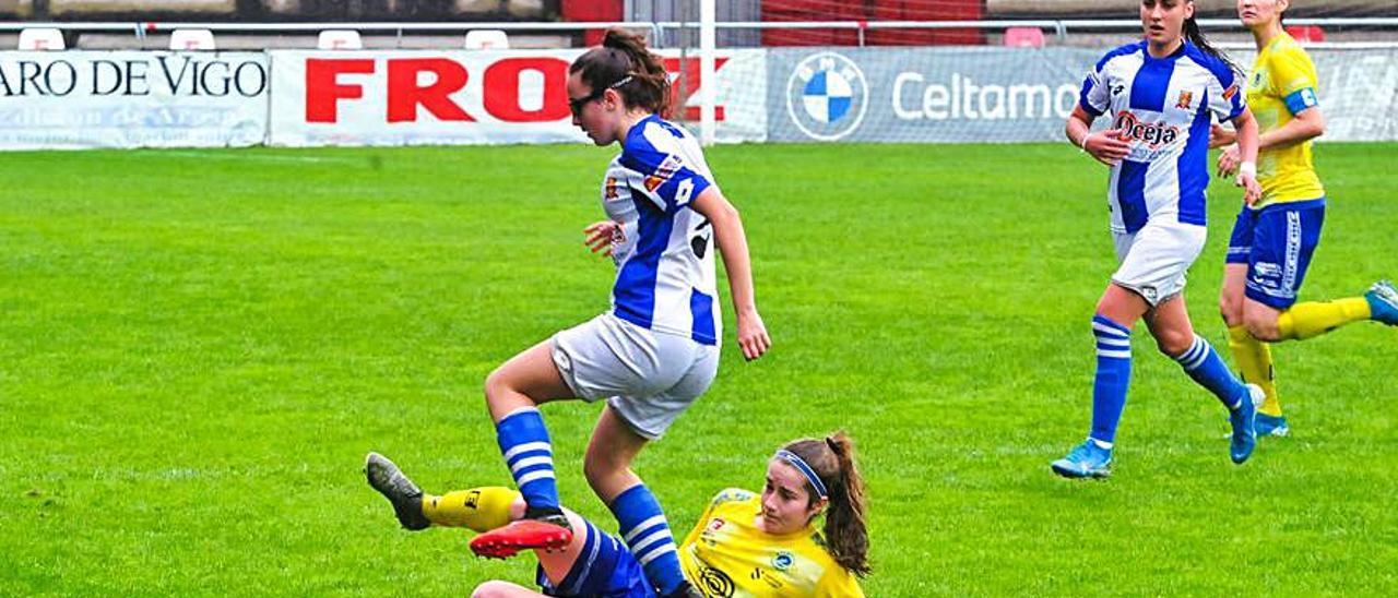 El Arousana cayó por la mínima en Gijón.