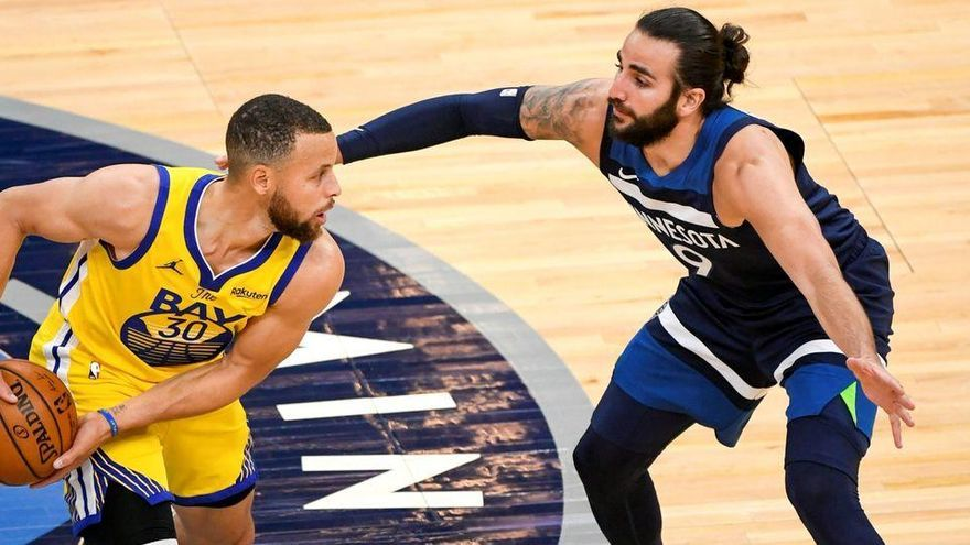 Ricky Rubio dirige a los Wolves frente a Golden State