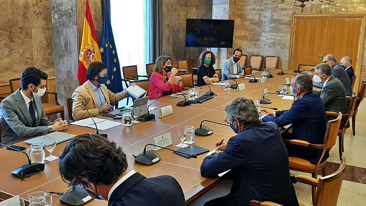 Imagen de la reunión mantenida en Madrid.    LEVANTE-EMV