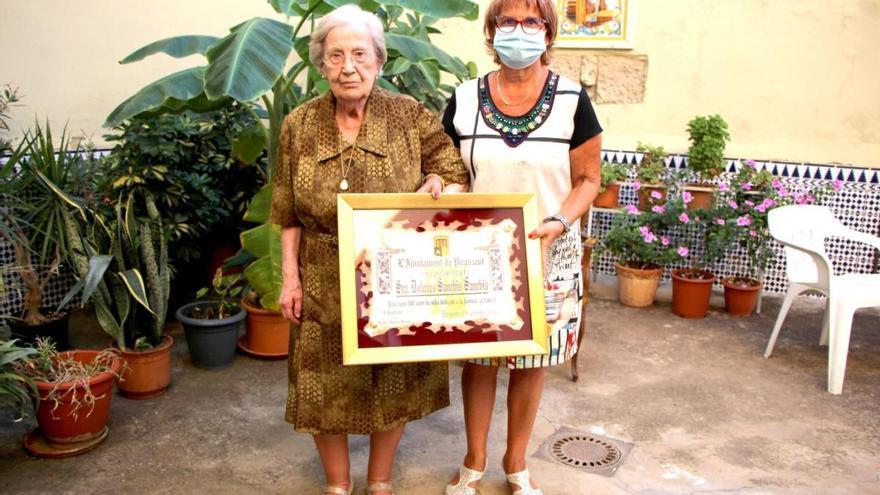 La vecina de Picassent Dolores Sanchis cumple 100 años de vida