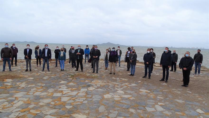 Movilización socialista en Los Nietos cuando se cumplen 20 años de la muerte de la ley del Mar Menor de 1987