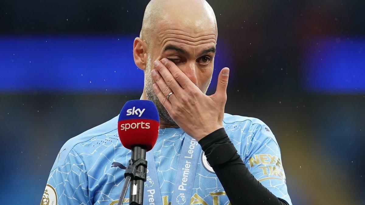 Pep Guardiola, després de guanyar la cinquena Premier League