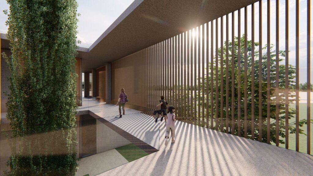 El centro será modernista y cubrirá todos los servicios
