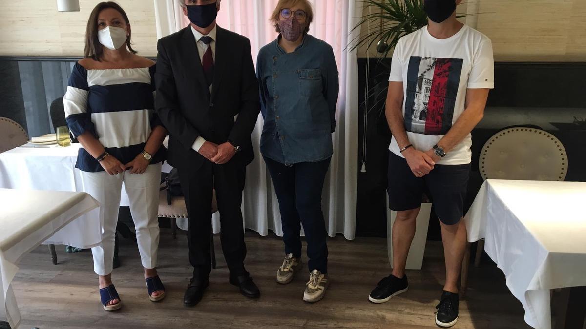 Representantes del sector de la hostelería de Elche