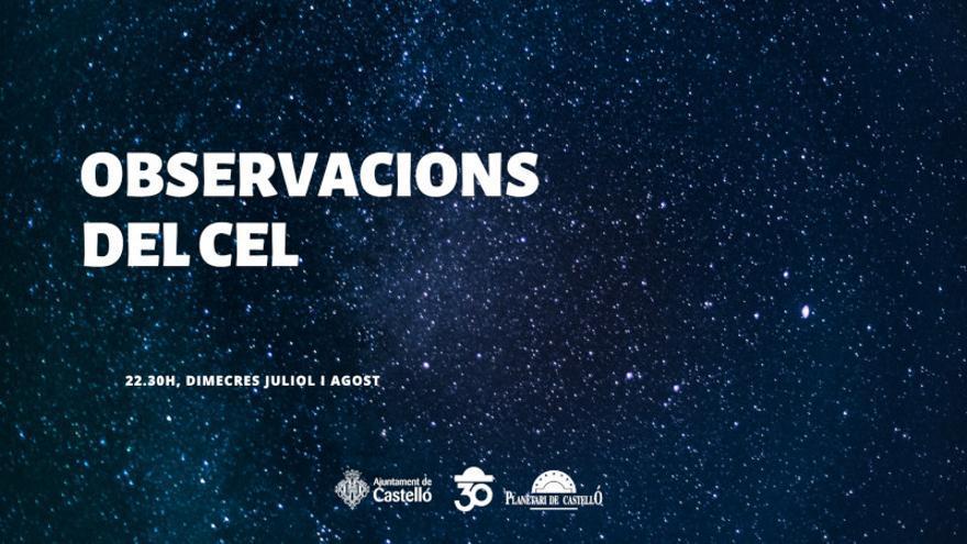 Observaciones del cielo en el Planetari