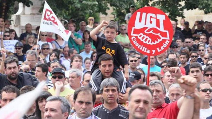 Multitudinaria manifestación minera en León