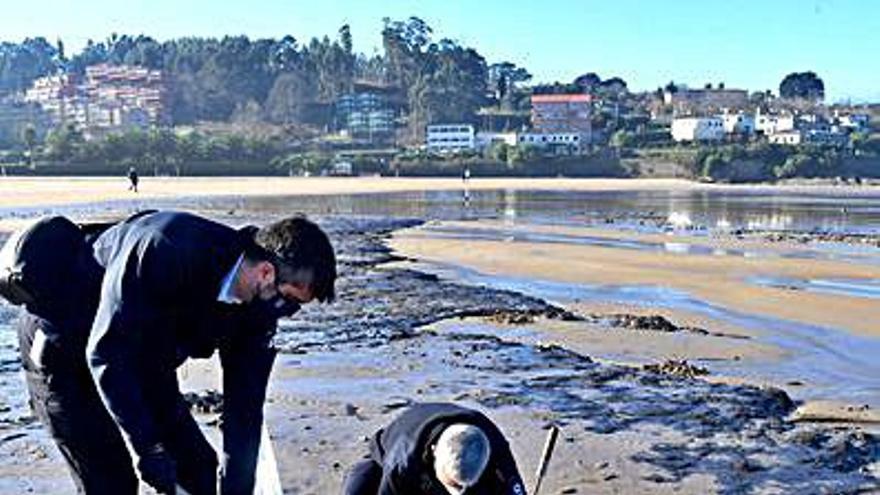 La Xunta confirma que las manchas negras en la playa de Bastiagueiro eran solo turba