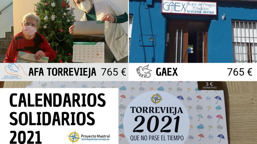 Proyecto Mastral entrega más de 1.500 euros de su calendario solidario