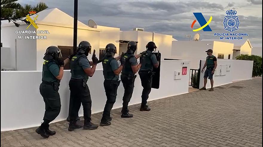 Seis detenidos en el mayor golpe policial contra el tráfico de cocaína en Lanzarote