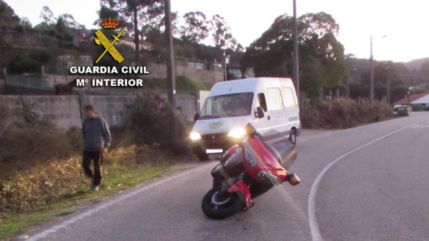 Investigan a un vecino de Gondomar que se dio a la fuga tras un accidente