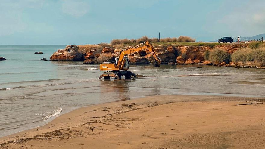 El Consell inicia las obras de reparación de la playa del Clot de Vinaròs