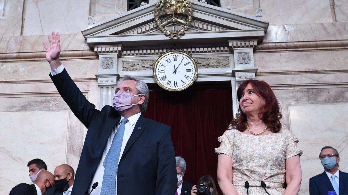 El presidente de Argentina, Alberto Fernández, y la vicepresidenta, Cristina Fernández de Kirchner.